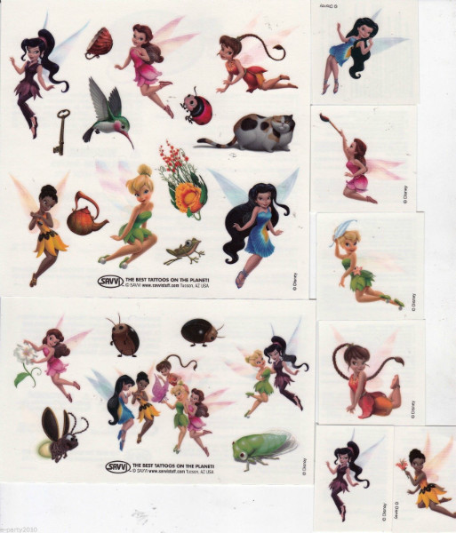 Tinker bell and the disney fairies temporary tattoos 25ct for Disney temporary tattoos